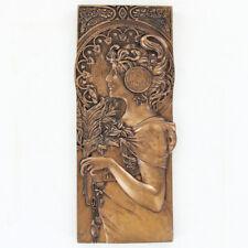 Autumn Leaves Mackintosh Wall Plaque Cold Cast Bronze Art Deco Nouveau 01316