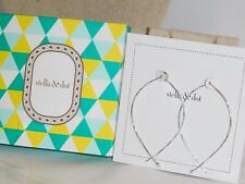 Stella & Dot Hammered Wire Large Silver Hoops - New in Box!
