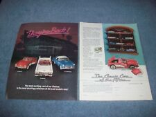 1988 Franklin Mint Classic Cars of the Fifties 2pg Vintage Ad 1/43 Die-Cast
