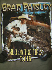 BRAD PAISLEY Mud on The Tires Concert Country Tour sz Adult Small 2003 T SHIRT