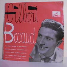 """33T 25 cm Gilbert BECAUD Disque Vinyle LP 12"""" ALORS RACONTE - VOIX MAITRE 1049"""