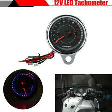 60mm Motorcycle Tachometer 0-13000 RPM Gauge LED Backlight for Honda Suzuki BMW
