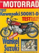 Motorrad 25 73 Kawasaki 500 H1 Puch Suzuki RX 5 Rotary Motobécane Guzzi V7 1973