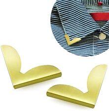 2 Piezas Blusa Camisa Metálico Metal Cuello señalado Clips punteras DE ALA Nr 15