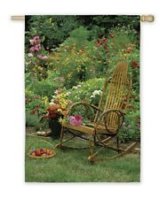 "Garden Rocker Silk Reflection Garden Size(13"" x 18"" Approx) Flag Eg 14854"
