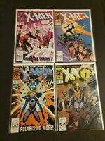 Uncanny X-Men #247 249 250 252 Four Comic Lot Silvestri Havok Polaris