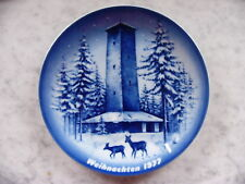 Sammelteller Weihnachten 1977 Kobalt Kornberg Schönburgwarte