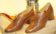 PAUL SMITH CASUAL GLAMOUR CALF NATURAL LEATHER BLOCK HEEL ELSE SHOE/ ITALY