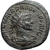 PROBUS w Jupiter Authentic Ancient Original 276AD Antioch Roman Coin i67100