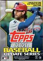 2020 Topps Baseball Update Series Blaster Box with Player Coin Card