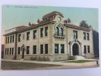 Santa Ana California CA City Hall Building old Vintage Postcard A20
