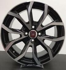 "Cerchi in lega Fiat 500 Bravo Idea Stilo Multipla da 16"" Offerta Nero Diamantato"