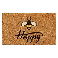 """Happy Bee Outdoor/Indoor Doormat 17"""" x 29"""" Durable Coir Nonslip Rug Mat Entrance"""