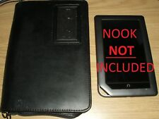 Nook Kindle Fire Electronic Reader Black 7 Pocket Genuine Leather Carrying Case