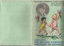 SECOURS NATIONAL - ENTR'AIDE D'HIVER DU MARECHAL - Germaine BOURET 1941