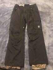 SM Womens Body Glove Black Ski Snowboard Pants Zipper Front Pockets Winter