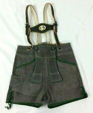 Stunning pair of Bavarian Vintage Child's Suede Lederhosen Shorts / Suspenders