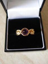 Wedding Not Enhanced Amethyst Fine Rings