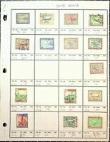 SAUDI ARABIA: 15 CLASSIC STAMPS ON A HOMEMADE APPROVAL PAGE.