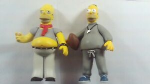 NECA Simpsons 25th Anniversary Series Coach & Lenny Kravitz Homer Figures