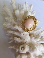 18 Karat Yellow Gold Angel Skin Coral Ring