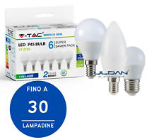 LAMPADINE LED 5,5W V-TAC ATTACCO E27 E14 LAMPADINA CANDELA OLIVA VTAC