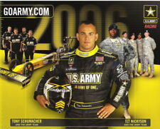 2006 Tony Schumacher U.S. Army Top Fuel NHRA postcard