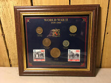 WWII 1939-1945 British Coin Collection With Stamps Estate Find EP20