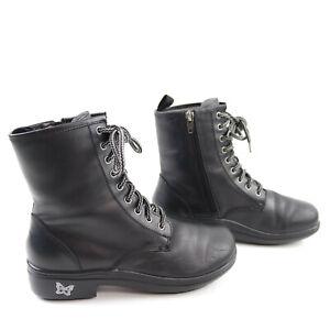 Alegria ARI-601 Women's Size 6 Black Boots Side Zippers Leather Size 36 Euro
