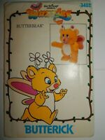 Butterbear Sewing Pattern 3498 Butterick Wuzzles Walt Disney UC FF Stuffed Bear