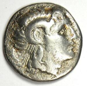 Thrace Lysimachus Alexander AR Drachm Lysimachos Coin 305-281 BC - Fine / VF
