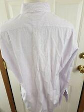 ERMENEGILDO ZEGNA Shirt 18-36 in Pink Grey White Plaid Cotton