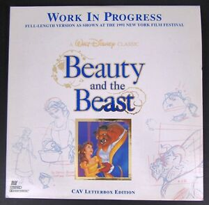 Disney Beauty And Beast Work In Progress Laserdisc NY Film Festival 2 Disc Bonus
