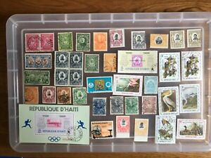 Haiti Stamps unchecked collection (aa290)