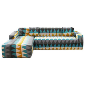 Stretchable Elastic Sofa Cover L Shaped Sectional Slipcovers Sectional Protector