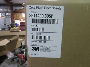 "3M Zeta Plus filter sheets (box of 50) Pt. # 3911409 30SP  19.4"" disc"