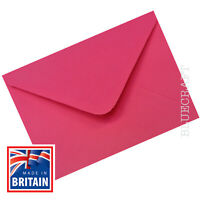 100 pack x A6 C6 Fuchsia Pink 100gsm Premium Envelopes 162 x 114mm - 6 x 4""