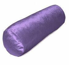 Mv29g Purple Diamond Crushed Shimmer Cotton Velvet Bolster Cover Neck Roll Case