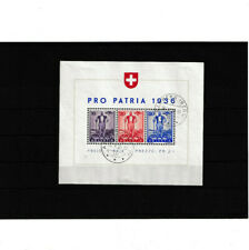 1 schweiz block von 1936 gestempelt pro  patria