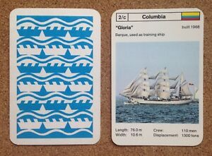 Top Trumps Single Card Windjammers Vintage / Modern Sailing Ships Various (FB3)
