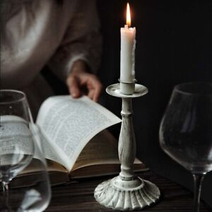 Dinner White Metal Candle Holders Candle Stand Candlestick Home Decor