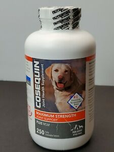 Cosequin Maximum Strength Plus MSM for Dogs All Sizes (250 Count) 05/2023
