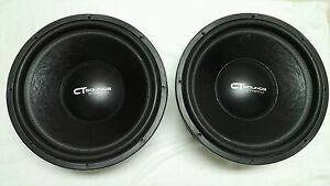 "(1) CT Sounds Strato V2.0 18""  800 watt RMS 18"" 4ohm DVC Car Subwoofer - WOW!"
