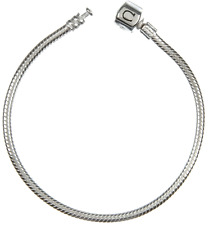 """Chamilia Snap Bracelet 925 Sterling Silver 19cm or 7.5"""" Genuine and BNIB RRP-£55"""