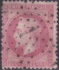 1862 - Francia - Napoleone III alloro 80 Centesimi rosa carminio - Unificato 32a