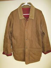 Men's WEATHERPROOF GARMENT COMPANY Brown Red Flannel REVERSIBLE Coat Jacket S