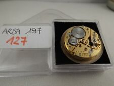 127 - Movimento arsa Unitas 197 working running con dial sold for parts repair