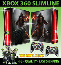 XBOX 360 SLIM Kylo ren star wars jedi dark side sticker peau & 2 x pad skins