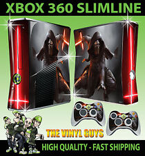 XBOX 360 SLIM KYLO REN STAR WARS JEDI DARK SIDE STICKER SKIN & 2 X PAD SKINS