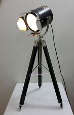 VINTAGE Hand Made Chrome Table Spotlight  Studio Tripod TABLE Lamps And Lights